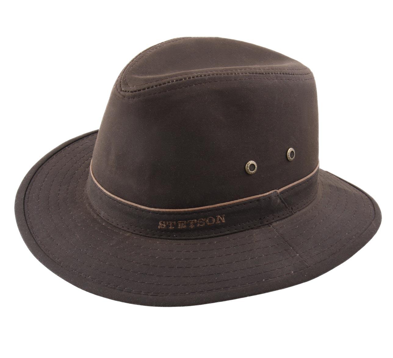f4e95f5f65d Traveller waxed coton - Hats Stetson