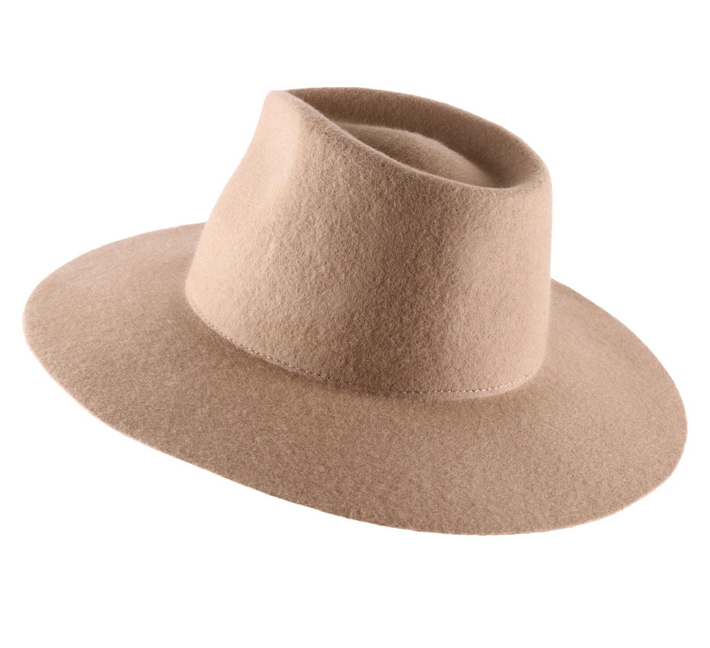 Classic Italy  Men/'s Sguarnito  Wool Felt Fedora Hat Water Repellent  Wide Brim